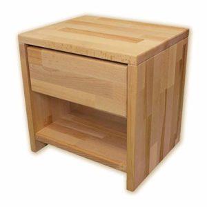 Betten-ABC Bubema Nachttisch, Buche Massivholz, montiert, Schublade