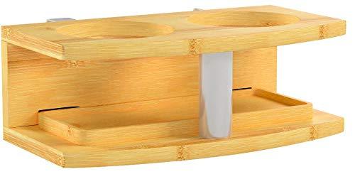 Woodquail Nachttisch Nachtschrank, Nachtkonsole Getränkehalter Regal aus Bambus