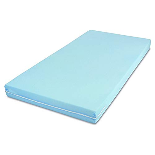 MSS Roll-Matratze, Easy Active, 90 x 190 x 11 cm, H3, Bezug Blau, Schaumstoff
