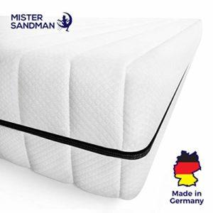 Mister Sandman ergonomische 7 Zonen Matratze, H2 H3 Härtegrad 2in1, Wendbar, Kaltschaum Rollmatratze Öko Tex (90 x 190 cm, H2H3 - Premium Doppeltuchbezug)