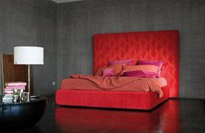 Polsterbett Wing - imposantes Designerbett, Größe:180x200cm